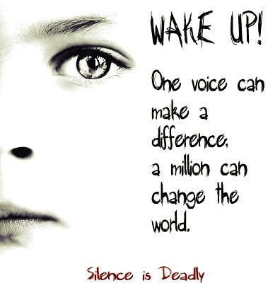 This is so true. Together we can raise awareness and against the abuse of innocent children.