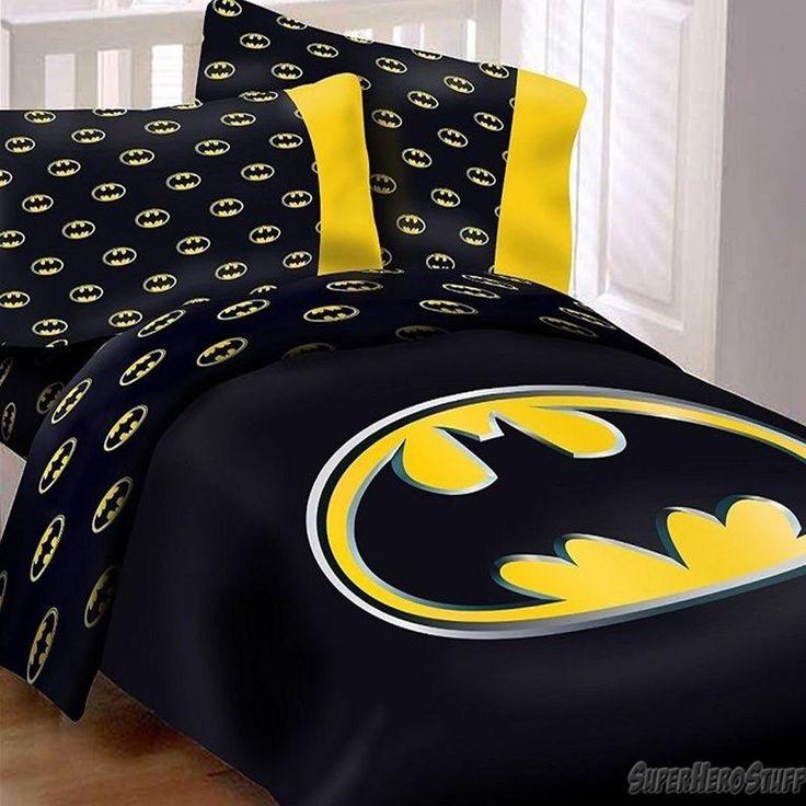 http://www.cadecga.com/category/Queen-Comforter-Set/ Batman Queen Comforter Set w/ 2 Pillow Cases