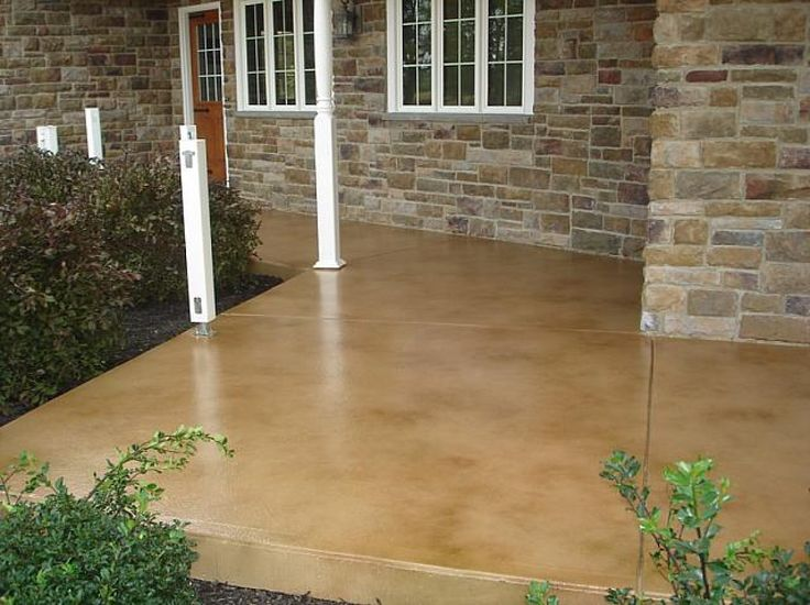Stained Concrete Patios And Porches Add Style To Your Home In Las Vegas,  Nevada.