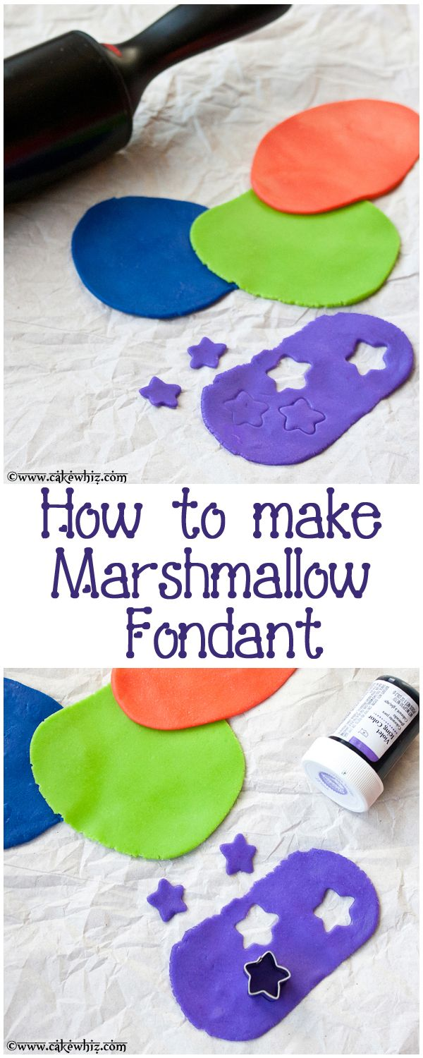 How to make easy and cheap MARSHMALLOW FONDANT (also known as mmf) with step-by-step pictures and many tips! It's like playdough but edible! :D From cakewhiz.com