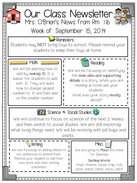 17 best ideas about parent newsletter template on pinterest teacher classroom procedures and. Black Bedroom Furniture Sets. Home Design Ideas