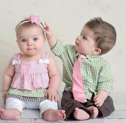 Matching boy and girl ;)