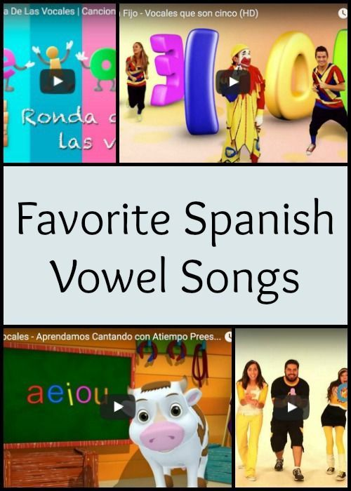 Spanish vowel songs teach correct pronunciation and help kids recognize sounds they hear and read. Favorite songs engage kids with 5 Spanish vowel sounds.