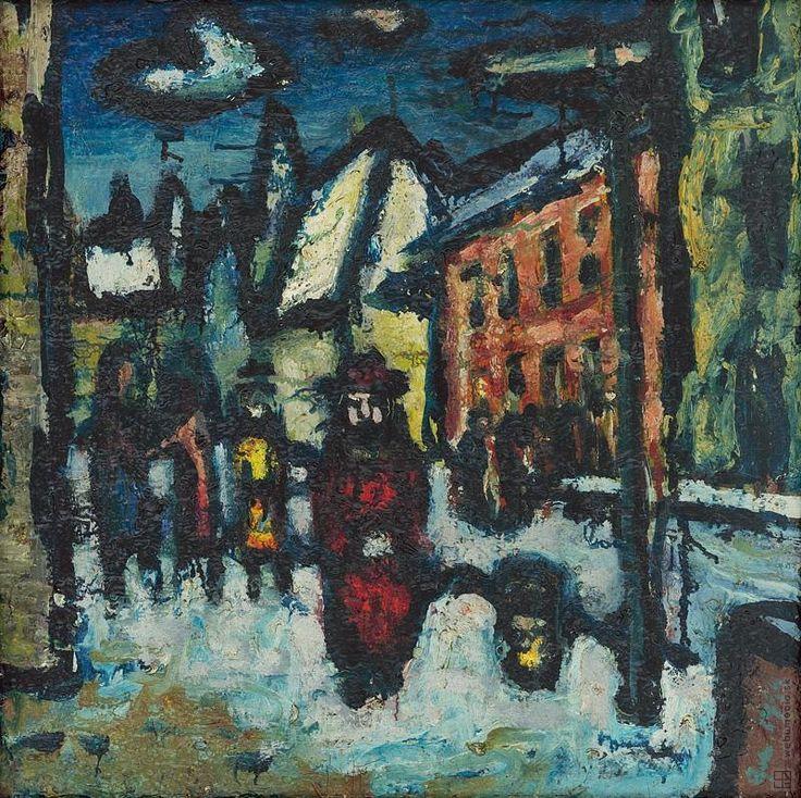 Ladislav Guderna: Ulica v zime:1945