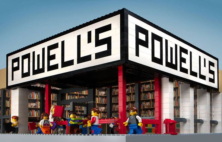 Portland's Powells in LEGO