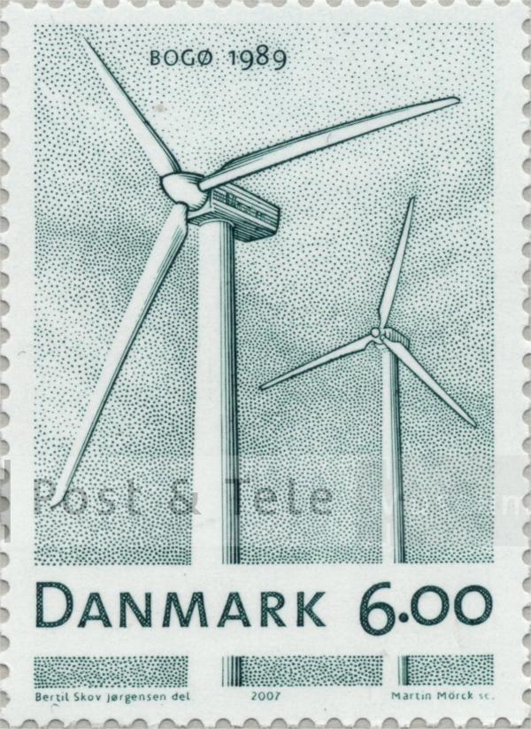 Danske vindmøller. Udgivet som Post Danmarks bidrag til Industrikulturens år. 2007.  Post & Tele Museum Frimærker   frimaerker.ptt-museum.dk