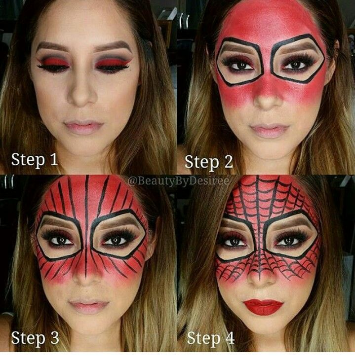 Spiderman makeup for Halloween - Visit now to grab yourself a super hero shirt today at 40% off!