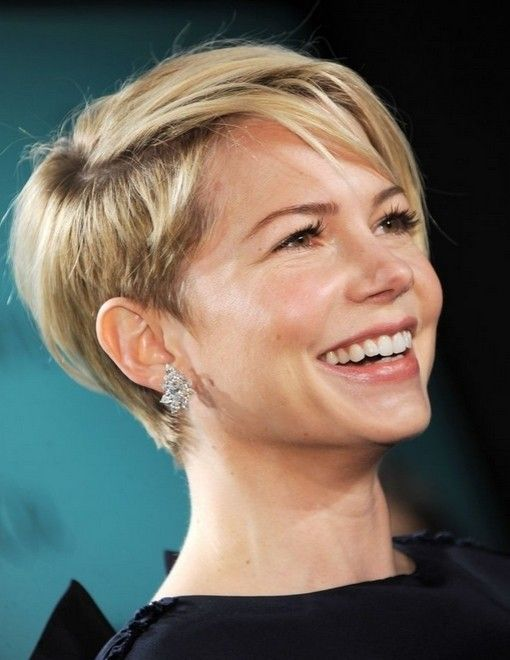 short hair thick wavy | 40 Pretty Short Haircuts for Women: Short Hair Styles 2015 | Michelle Williams Pixie Cut