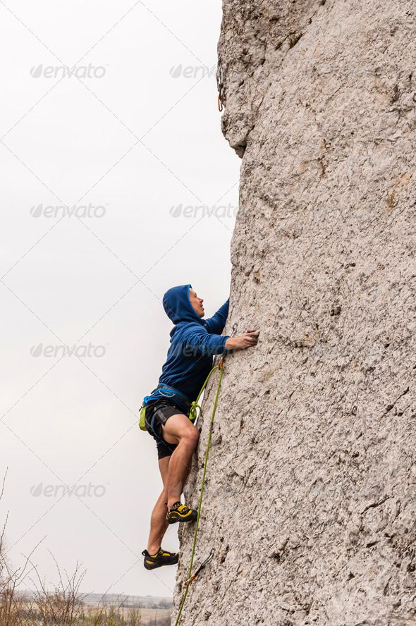 Glued to the Rocks - Stock Photo - Images