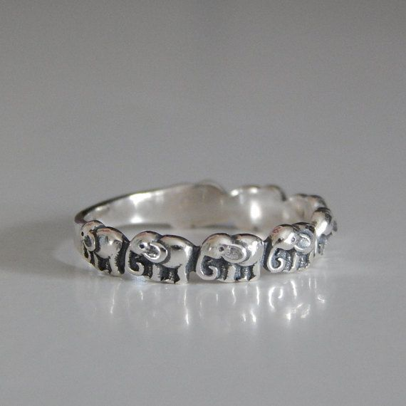 Sterling Silver Elephant Ring, Elephant Parade Ring, Elephant Ring, Silver Ring, Elephant Jewellery, Lucky Elephant Ring