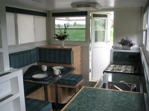 Trailerable Houseboats   ... trailerable houseboat kitchen and dining Trailerable Houseboat For