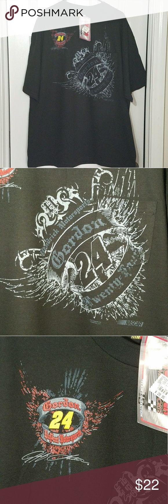 Racewear Nascar Jeff Gordon DuPont Motorsports NWT Nascar fan black tee shirt driver #24 Jeff Gordon Hendrick Motorsports Nascar Shirts Tees - Short Sleeve