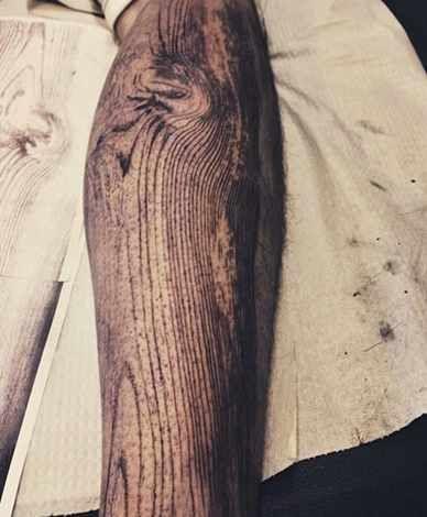 Wood Effect Tattoo - Tattoo Shortlist