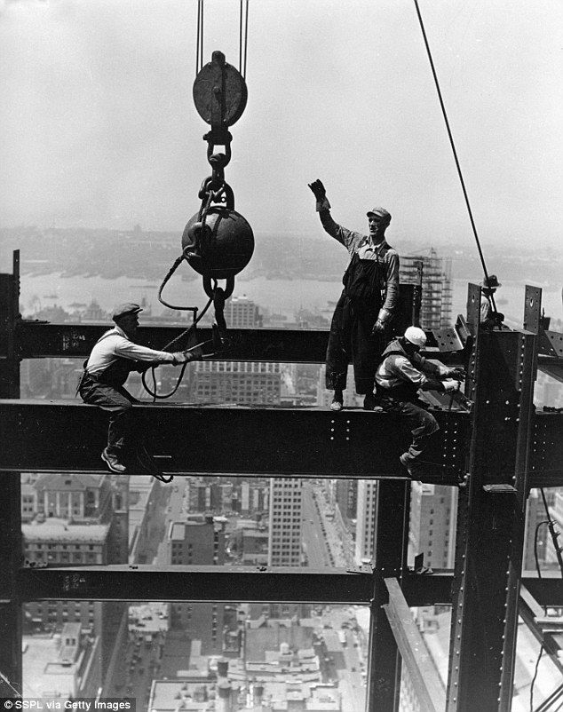 Building the Big Apple: Historic images show construction of New York's most famous skyscrapers