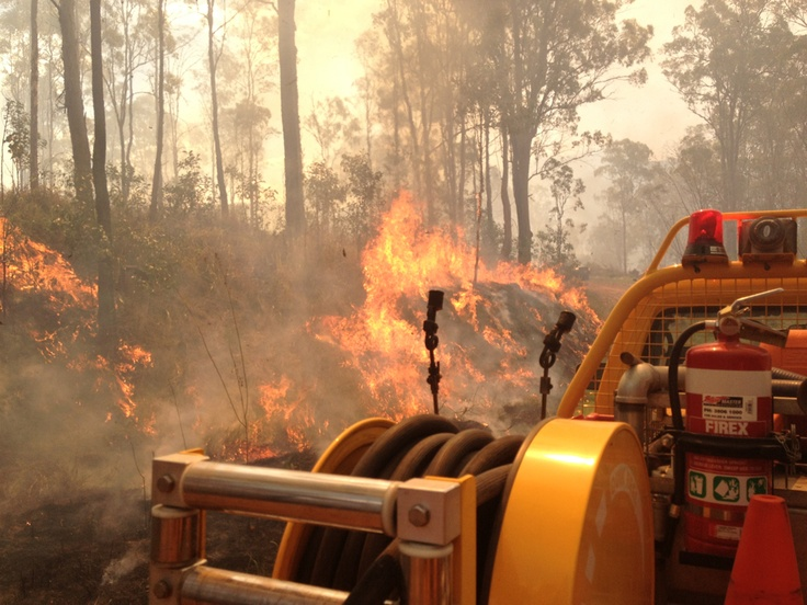 Rural Fire Service truck at the Grantham fire - Oct 24, 2012.  Photo by Matt Johns, Withcott RFB.  #qldfire #bushfire