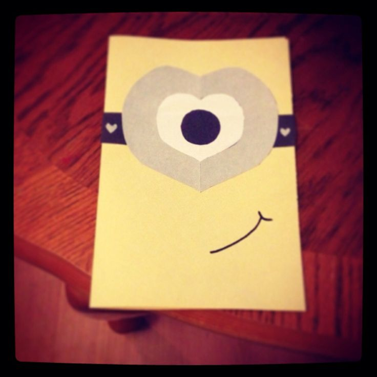 Valentine's card. 'you're one in a minion'