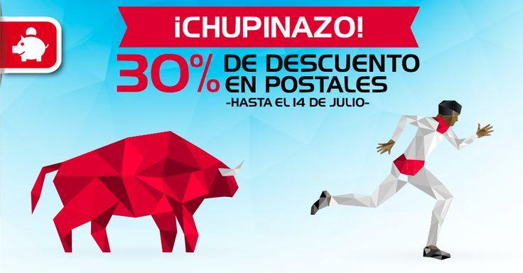 ¡Chupinazo en Optimprint.com! Esquiva los precios altos y promociona tu negocio con un descuento de capote. Ejemplo: 500 postales premium por 16,98€ (envío incluido).  Corre, corre, sólo hasta el final de los #Sanfermines #imprentaonline
