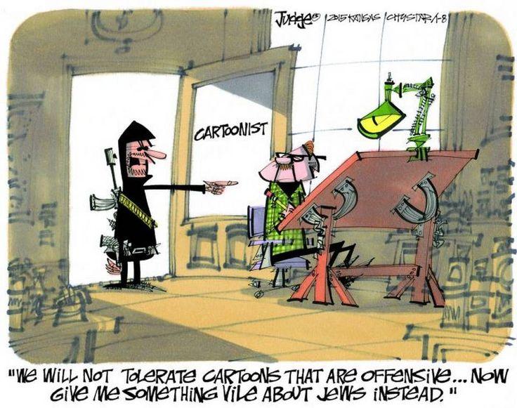 Lee Judge cartoon for Jan. 8, 2015, appearing in Kansas City Star