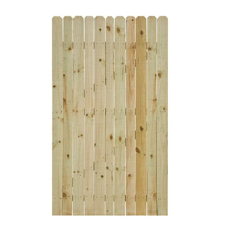 3.5 ft. W x 6 ft. H Pressure-Treated Pine Stockade Fence Gate-133606 - The Home Depot