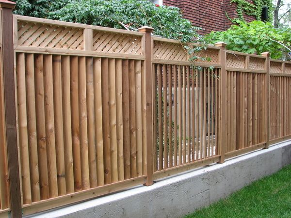 semi privacy wood fence yard fence ideas fence designs