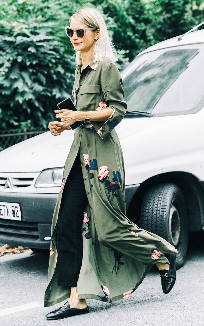 Style Tip: Toss a playful dress over a pair of slim cropped trousers for an unexpected combination. Keep it simple with a pair of loafers or ballet flats to complete the ensemble.