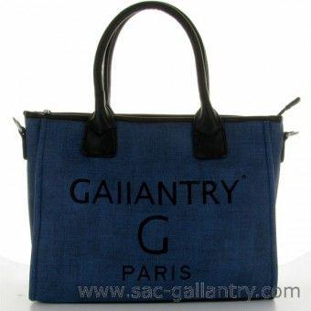 Sac a main cabas bleu Gallantry