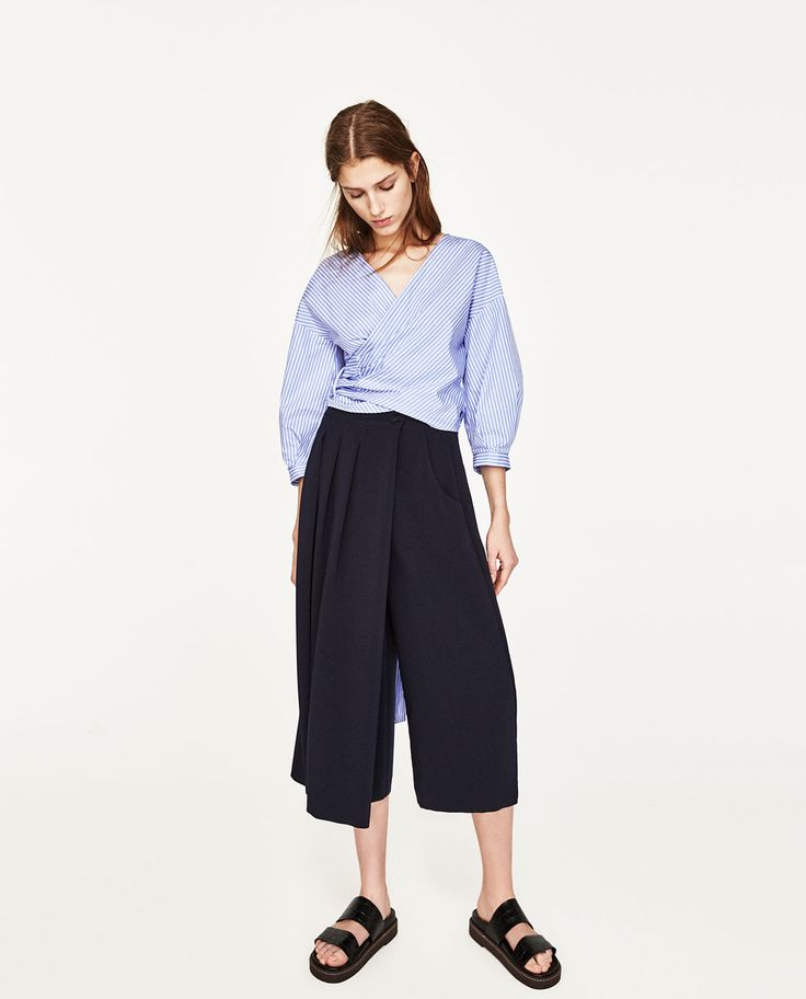 MIDI WRAP SKIRT-NEW IN-WOMAN-COLLECTION SS/17 | ZARA Canada