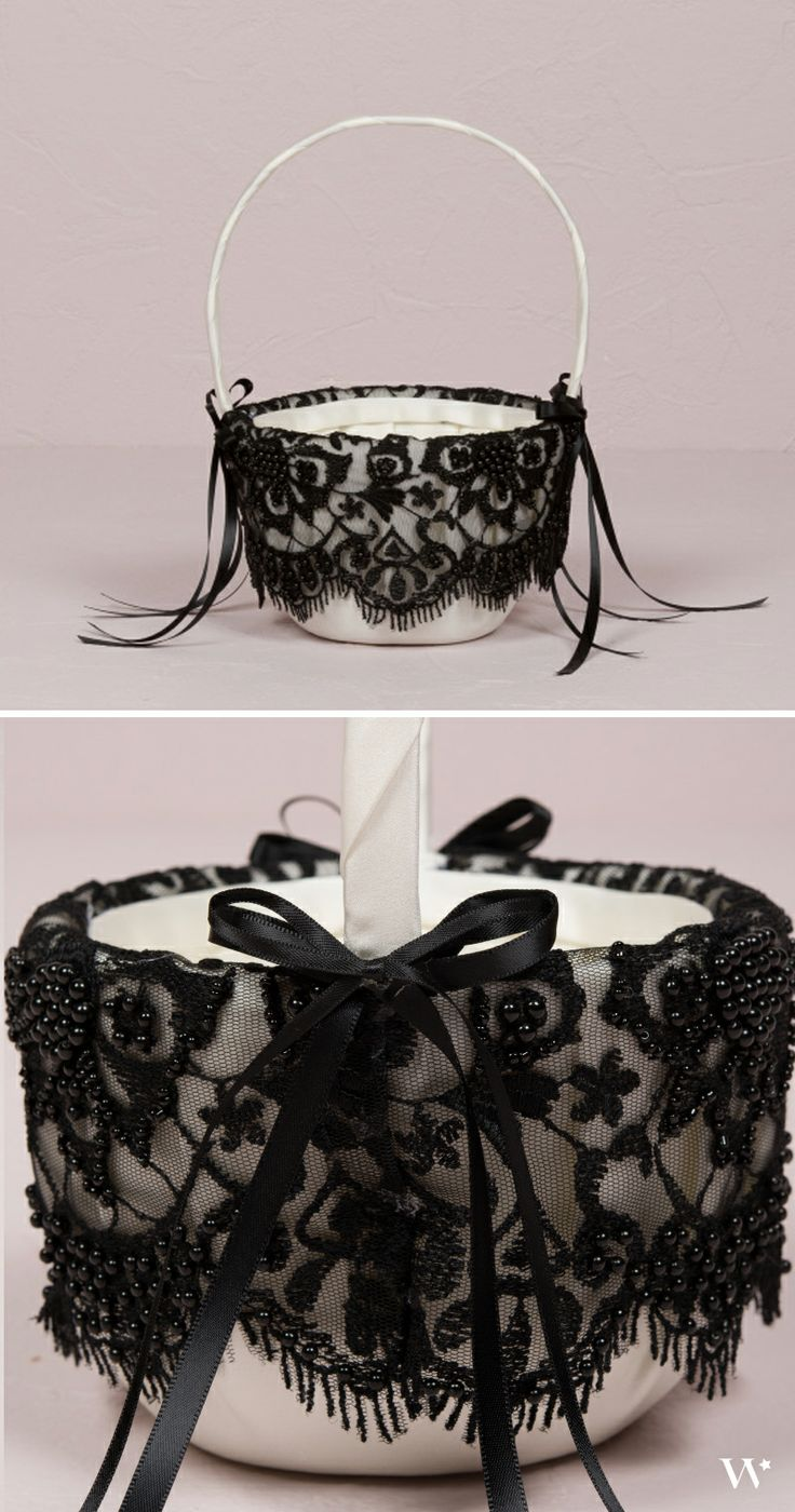 Let your flower girl look adorable and chic with Beverly Clark's Gala Collection flower girl basket: http://www.weddingstar.com/product/beverly-clark-gala-collection-flower-girl-basket