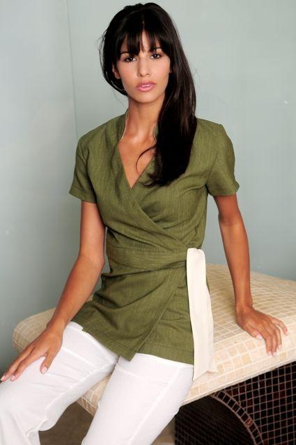 Ella wraparound tunic spa spa for Spa nagoya uniform