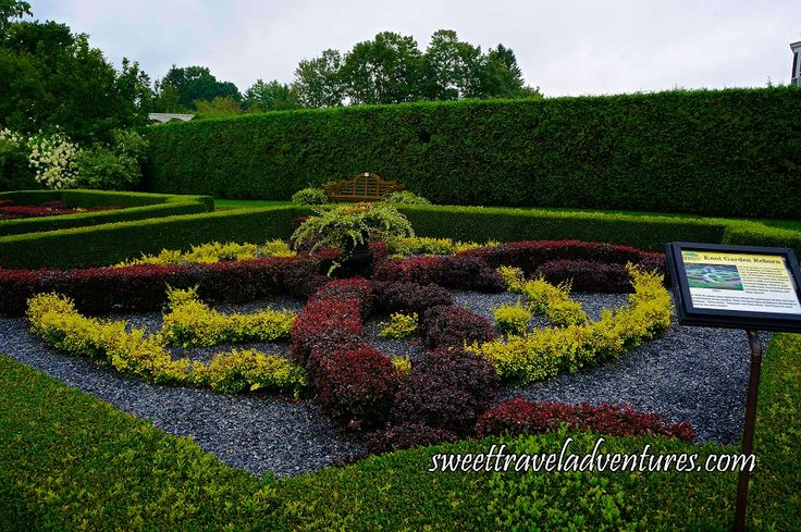Knot Garden in Kingsbrae Garden in St. Andrews by-the-Sea, New Brunswick, Canada