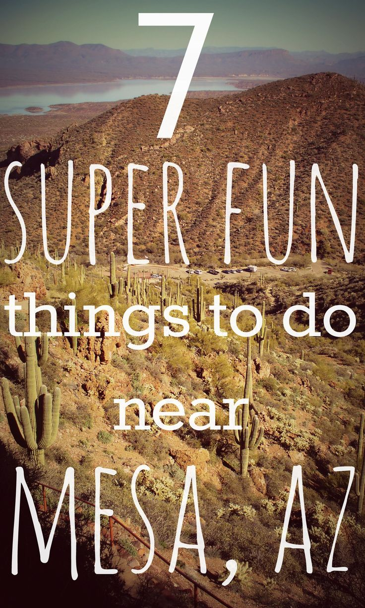 7 Super Fun Things to Do near Mesa, Arizona | #2 is Tonto National Monument - Click through for all 7! | #travelblog #travel