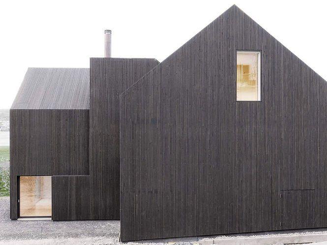 Fachada Casa. Arquiteto: Rossetti e Wyss Architekten. Fotógrafo: Jrg Zimmermann.