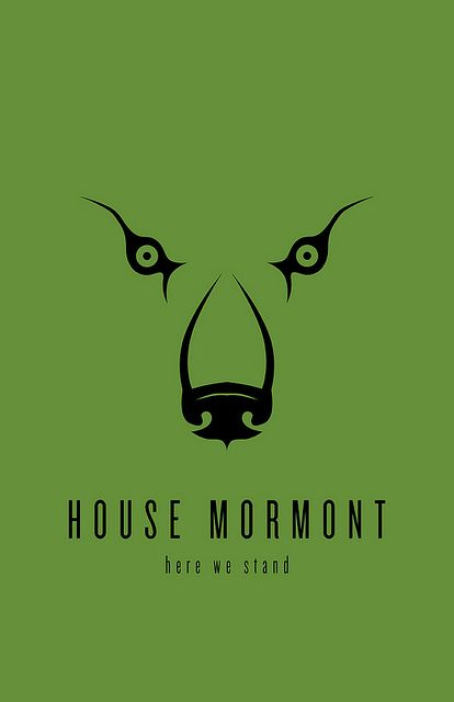House Mormont Minimalist Poster by liquidsouldesign, via Flickr