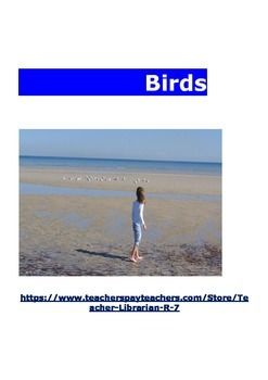 BirdsIt is essential that children are taught to use a legitimate scientific method from an early age. It is important to use accurate, quality resources, images and content to develop a discriminating learner. I have selected and designed material to promote this style of  excellence in learning.