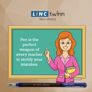 Linc Pen- The choice of every teacher for improving your work. #LincPens #Pens #LincTwinn
