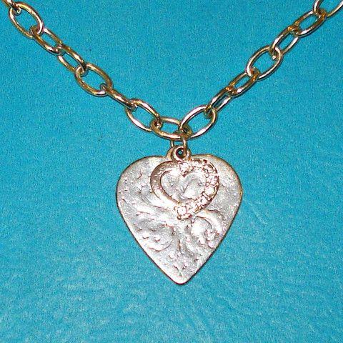 Double Heart Necklace - Mookie Designs Vintage
