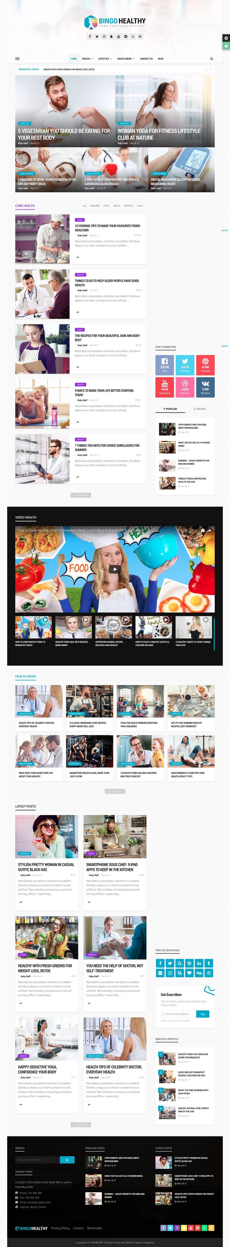 Bingo is a Multi-Purpose Newspaper, Magazine WordPress Theme best suited for sites that deliver news about Technology, Fashion, Sport, Video, Healthy, Travel. Comes with a huge range of powerful tools in the back-end saving time and more money including: Page Builder, Theme Options, Shortcodes, Widgets, Mega Menu, support ajax for every block, layout. Include Smart Ajax filter by categories, tags, popuplar and author. ajax pagination include load more, next and previous, and infinite…