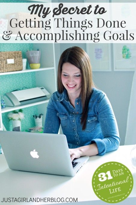 Want to know my secret to getting things done and accomplishing goals? Read on!