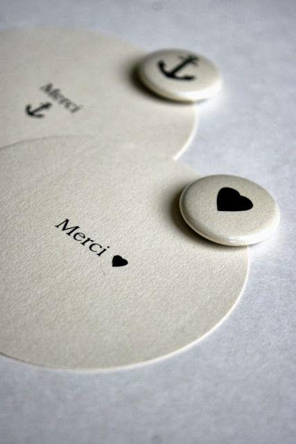 carte merci et mini magnet cœur