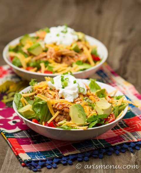 how to eat a taco salad