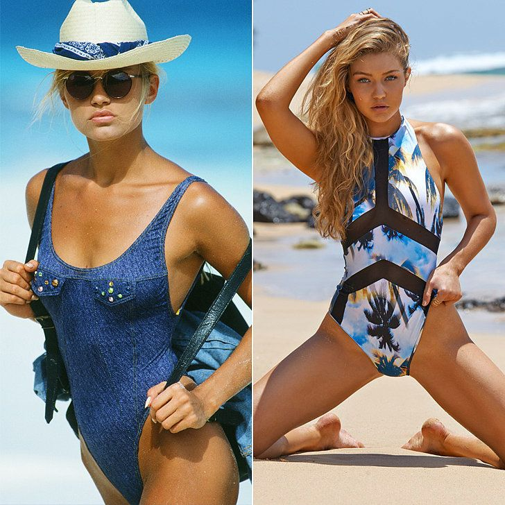 Proof That When It Comes to Modeling a Swimsuit, Gigi Hadid Got It From Her Mama