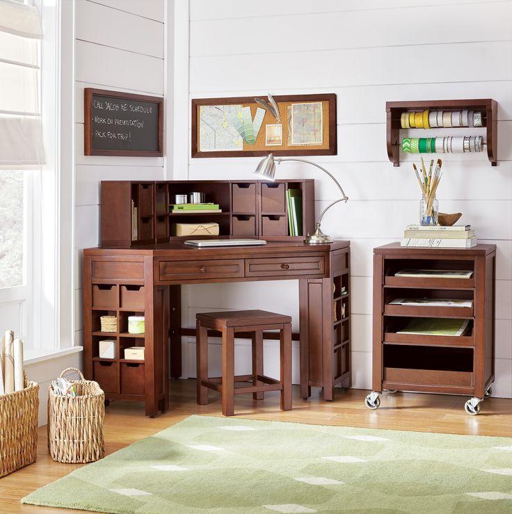 240 best storage organization images on pinterest for Corner craft table with storage