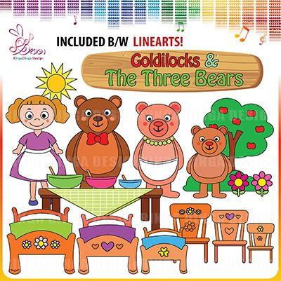 Goldilocks and the Three Bears by Ringa Dinga Design