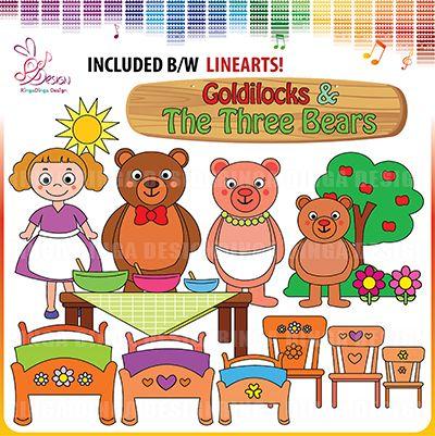Goldilocks and the Three Bears by Ringa Dinga Design
