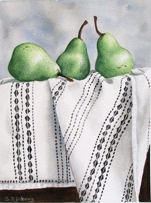 Artwork Pop-up - Bartlett Pears on Lace