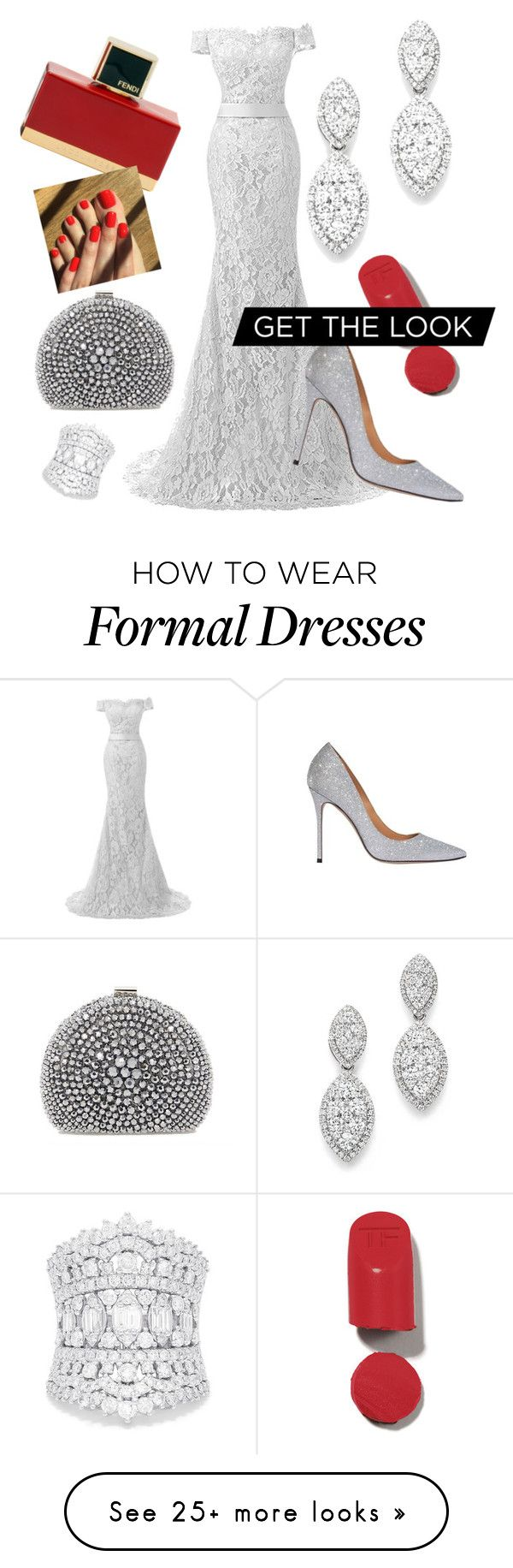"""Formal Glam"" by dianatrevino8302hotmailcom on Polyvore featuring Reception, Bloomingdale's, Effy Jewelry and Fendi"