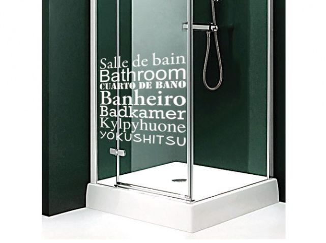 stickers salle de bain mots - Stickers Salle De Bain Texte