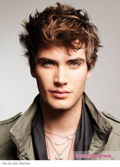 Pictures : Mens Hairstyles - Long Bangs Men Hair Style