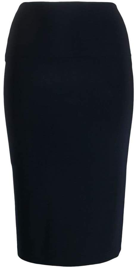 Norma Kamali mid-length fitted tube skirt – #fitted #Kamali #midlength #Norma #S…