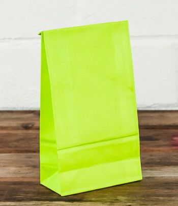 Lime lolly bag www.qualitytimepartysupplies.com.au